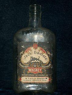 Vintage Jack Daniels No.7 Whisky Bottle, Full Pint