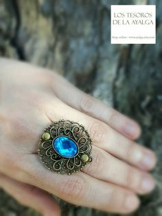 renaissance inspiration ring by Ayalga on Etsy