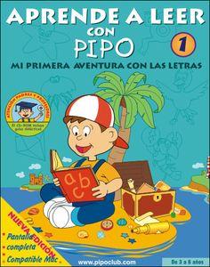 """Portada de """"Aprende a leer con Pipo"""" 1 desde la Tienda Online de #Pipo #leer #lectura #aprender #elearning #niños #aula #web20"""