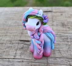 Happy Pink - Handmade polymer clay pony #SweetFriends