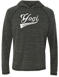 Yoga Clothing For You Mens Lightweight Hoodie Tee Shirt Mens Medium, Heather Navy