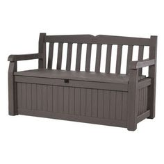 Keter All Weather 70 Gallon Resin Storage Bench Finish: Brown / Brown