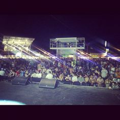 Right before show time at Summerfest in Milwaukee with Paul Oakenfold and Michael S.