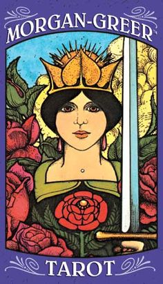 Morgan-Greer Tarot deck. I bought a set from ebay 10 years ago - and could NEVER read them before a few weeks ago. I've been teaching a tarot class and working with  many different decks, which has helped me use these, finally!    http://TheLittleWitch.com