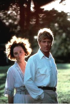 Actor, film director, producer, businessman, environmentalist, philanthropist and founder of the Sundance Film Festival Robert Redford (b. 1936) with Meryl Streep (b. 1949) © Film still: Out of Africa, directed and produced by Sydney Pollack, 1985