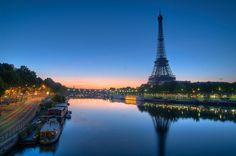 Early morning on the river Seine by Vincent Montibus, via Flickr