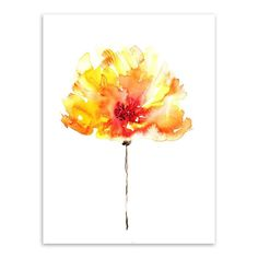 GOLD WATERCOLOR FLOWER