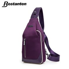 Bostanten Men Messenger Bag Outdoor Travel Sport Nylon Women Chest Pack  Cross body Sling Single Shoulder dd6a77d996692