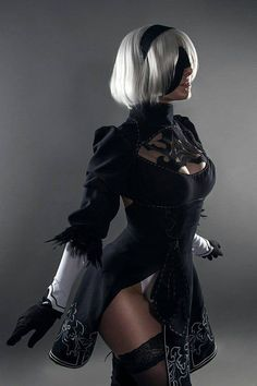 Nier Automata cosplay costume dress made to order handmade geek girl suede Cute Cosplay, Cosplay Dress, Cosplay Outfits, Best Cosplay, Costume Dress, Couples Cosplay, Cosplay Girls, Warrior Girl, Dress Gloves