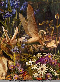 Fairy Art: Erotic Flower Fairies; Contemporary Faerie Art ( Faery Art ) after the Victorian Fairy Art Tradition by Howard David Johnson