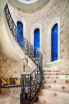 Impressive Memorial Moroccan Mediterranean-Staircase