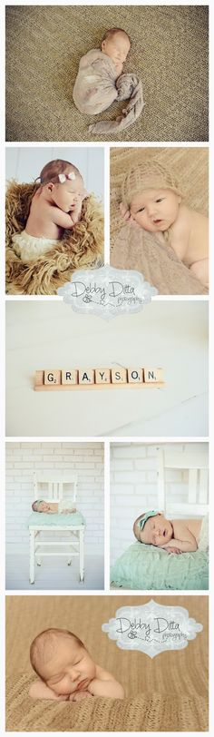 Gray white and champagne gold neutral newborn session scrabble tile name Newborn photographer Debby Ditta Photography: Newborn baby girl .. and sweet big sister too! Tomball Houston Cypress Spring Conroe the Woodlands TX Texas baby newborn child children family maternity