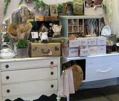 Fab Finds...want the 8 drawer white chest and small suitcase...too much good stuff !