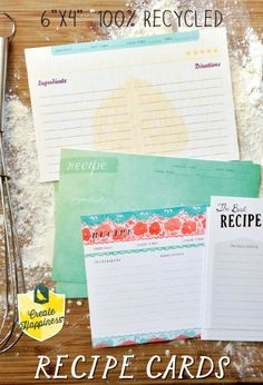 Mix and Match Recipe Cards, more than 10 styles to choose from!
