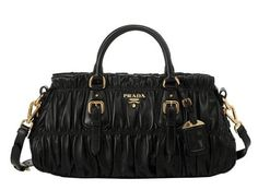 prada black leather - Handbags I love on Pinterest | Prada Handbags, Around The Worlds ...