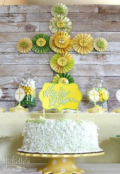 Lovely cake from an Easter Party!  See more party ideas at CatchMyParty.com!