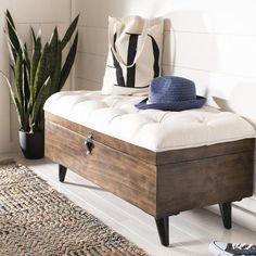 Home Furniture Salon Modern Furniture Dining Diy Patio Furniture, Leather Storage Ottoman, Creative Furniture, Furniture, Rectangle Storage, Home Furniture, Home Decor, Furniture Design Wooden, Storage Ottoman