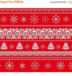 new year sale joy love peace border stripechristmas cotton fabric bystudio