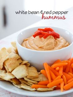 White Bean and Red Pepper Hummus