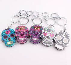 Check out our new item New Vintage Trink.... Just added today get it here http://everythingskull.com/products/new-vintage-trinket-for-car-colorful-skull-alloy-acrylic-keychain?utm_campaign=social_autopilot&utm_source=pin&utm_medium=pin
