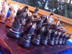 Birds Chess Set Pieces only/Board not included