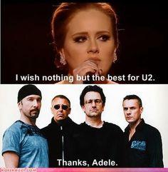Adele wishing the best for Make Em Laugh, I Love To Laugh, Laugh Laugh, Funny Celebrity Pics, Make Photo, Laughing So Hard, Music Lyrics, Motivation, I Smile
