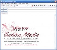 Nice email signature template but too big for my liking. | Email ...