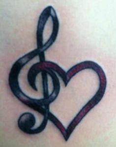 Love/Music tattoo small tattoos, body art tattoos, girl tattoos, new tattoos Tattoos Musik, Neue Tattoos, Body Art Tattoos, Woman Tattoos, Maori Tattoos, Arrow Tattoos, Tribal Tattoos, Form Tattoo, Shape Tattoo