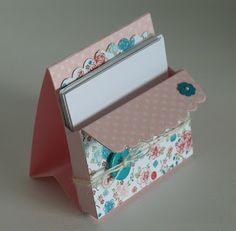 stampin with beemybear: Tutorial: Notizzettel-Box aus der Umschlag-Stanz Little notepad stand