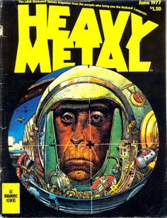vintage everyday: Heavy Metal Magazine Covers from The 1970s