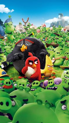 "Wallpaper for ""The Angry Birds Movie"" Movie Wallpapers, Cute Cartoon Wallpapers, Angry Birds Personajes, Disney Phone Wallpaper, Iphone Wallpaper, Angry Bird Pictures, Cumpleaños Angry Birds, Angry Birds Characters, Bird Wallpaper"