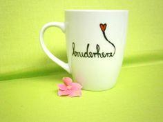 """Tasse """"Bruderherz"""" // coffee cup via DaWanda.com // 14€"""