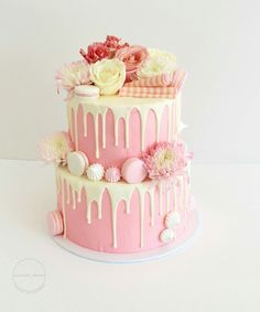 wedding cake inspo how the pink cake decoration drip cakes 22986
