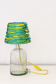 Lichtsnoeren - Lamp wired in the bottle - hand-made lampshade - Een uniek product van herywalery op DaWanda