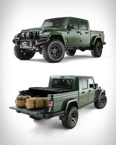 Filson Edition AEV Brute I don't know why Jeep doesn't make their own already. People will buy it in droves! I have a sneaking suspicion Ram won't like it. Jeep Jk, Jeep Truck, 4x4 Trucks, Cool Trucks, Jeep Rubicon, Jeep Wrangler, Cool Cars, Aev Jeep, Jeep Pickup