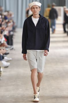 "The Sailor Cap - Colloquially known as the ""gob hat,"" the traditional sailor cap has been a millinery staple since being introduced as an official topper of U.S. Navy uniforms in the 1880s. Recently the style has had something of a resurgence, appearing at Visvim's Spring 2017 men's show and at Prada's Fall 2016 men's show."