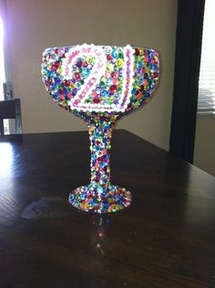 21st Birthday Cup. $50.00, via Etsy. We could make this -Caty