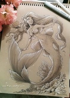 Mermaid #3 by KelleeArt on DeviantArt