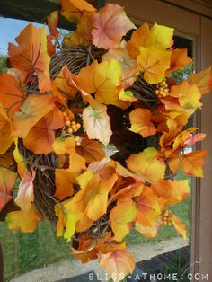 The Easiest Fall Wreath- EVER! The 2 minute wreath that looks great!