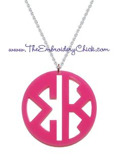 Sorority Monogram necklace