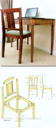 Writing Chair Plans - Furniture Plans and Projects | WoodArchivist.com