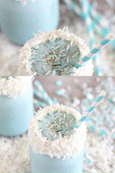 Winter Milkshake - Disney Frozen Birthday Party Ideas