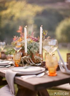 Rustic Thanksgiving & Fall Table Inspiration  | Camp Makery