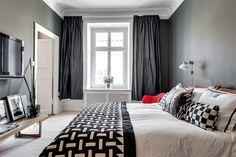 20 quartos lindos com as paredes pretas para você se inspirar - limaonagua