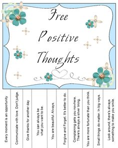 Sweetly Scrapped: Free printable positive thoughts