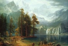 Internationally respected American artist, Albert Bierstadt painted the true American West. His depictions of the Rockies over 150 years ago immortalized their grandeur creating such a sensation they
