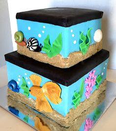The Cake Market: Aquarium cake Aquarium Cake, Tank Cake, Adoption Gifts, Painted Cakes, Sugar Art, Cupcake Cakes, Cupcakes, Custom Cakes, Cake Designs