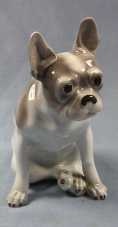 french Bulldog dogfigurine dog porcelain Hutschenreuther dane figurine 1939 #1060012