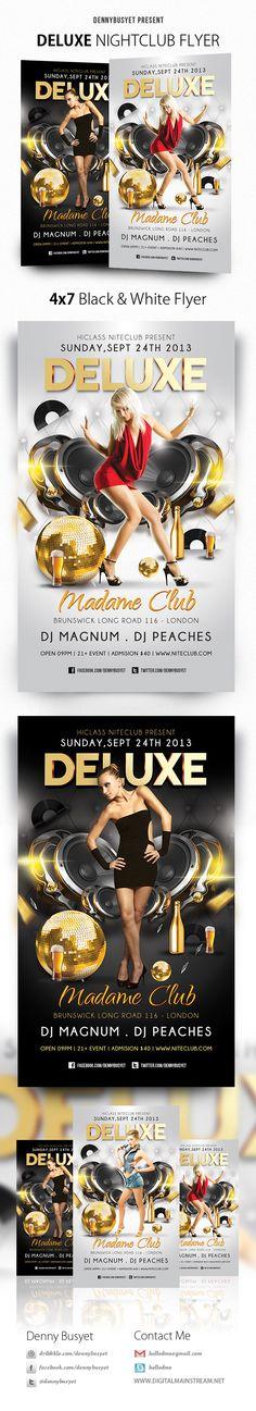 Deluxe Nightclub Flyer Template by Denny Budi Susetyo, via Behance