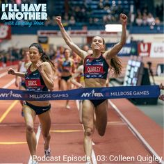 I'll Have Another Podcast Episode 103: Colleen Quigley. Olympic Steeple Chaser, NCAA champion and Granola making extraordinaire. Listen to the episode to hear about her training with the Bowerman Track Club and what's next for her! #bowermantrackclub #womensrunning #steeplechase #olympics